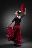 Młodej kobiety dancingowy flamenco Zdjęcie Stock