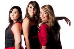 młodej trzy kobiety Zdjęcia Royalty Free