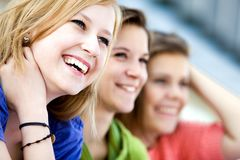 młodej trzy kobiety Obraz Royalty Free