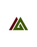 M- oder MA- oder MG-Anfangsikonenfinanzbetriebsversicherungszusammenfassung vektor abbildung