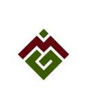 M- oder MG-Anfangsikonen1 Finanzbetriebsversicherungszusammenfassung Lizenzfreies Stockfoto