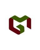 M- oder MG-Anfangsikonen2 Finanzbetriebsversicherungszusammenfassung vektor abbildung