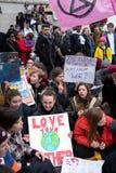 M?odo?? strajka 4 klimat w Londyn obraz stock