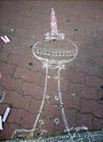 Młody artysty ` s Fernsehturm berlin Germany Fotografia Royalty Free