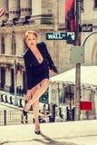 Młody bizneswoman pracuje w Nowy Jork Fotografia Stock