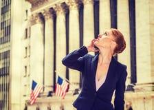Młody bizneswoman pracuje w Nowy Jork Zdjęcie Royalty Free