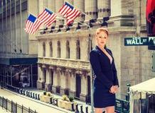 Młody bizneswoman pracuje w Nowy Jork Zdjęcia Royalty Free
