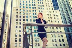 Młody bizneswoman w Nowy Jork Zdjęcie Stock