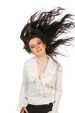 Młody brunetki dziewczyny portret Zdjęcia Royalty Free