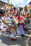 Młody dobosz przy Hikkaduwa Perahara w Sri Lanka Obrazy Stock