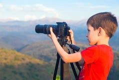 Młody fotograf Obrazy Stock