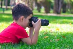 Młody fotograf Zdjęcia Royalty Free