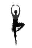 Młody Kaukaski baletniczy tancerz w czarnej sukni Zdjęcia Stock