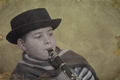 Młody klarnetu gracz Zdjęcia Royalty Free