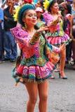 Młody lokalny kobieta taniec podczas festiwalu Dziewiczy De Los angeles Ca Zdjęcie Stock