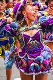 Młody lokalny kobieta taniec podczas festiwalu Dziewiczy De Los angeles Ca Zdjęcia Royalty Free