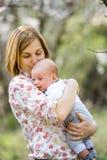 Młody mama z dzieckiem Obraz Royalty Free