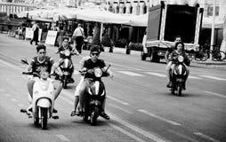 Młody Moped gang Zdjęcia Royalty Free