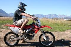 młody motocyklistów Zdjęcia Royalty Free