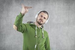 Młody muzyk jako buntownik obrazy royalty free