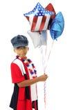 Młody patriota, Duzi balony Fotografia Royalty Free