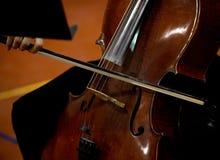 Młody wiolonczelowy gracz Obrazy Royalty Free