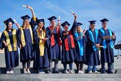 Młodych absolwentów uczni grupa Obrazy Stock