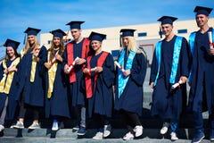 Młodych absolwentów uczni grupa Fotografia Stock