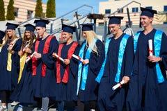 Młodych absolwentów uczni grupa Zdjęcie Royalty Free