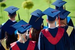 Młodych absolwentów uczni grupa Obrazy Royalty Free