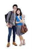 Młodzi azjatykci ucznie Zdjęcie Stock