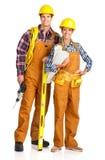 młodzi budowniczych ludzie Obraz Royalty Free