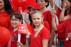 Młodzi patriota miasto Zdjęcie Royalty Free