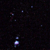 M42 Orion Nebula. 60 second shot at 200mm focal length ISO400 f3.2 royalty free stock photo