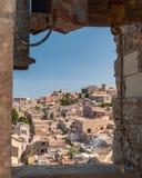 750m ovanför aegadian runt om öar level italy för den dramatiska östliga ericen för del för comune för capostadskusten historiska Arkivbild