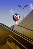 M para o metro Fotografia de Stock