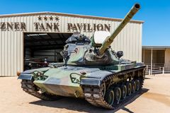 M60 Patton Tank. An M60A3 main battle tank on display at the General Patton Memorial Museum in California Royalty Free Stock Image