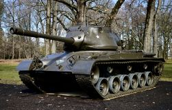 M47 Patton Tank. This is a picture of a M47 Patton on display at Cantigny Tank Park located in Winfield, Illinois in DuPage County.  The M47 was designed for use Royalty Free Stock Photo