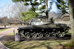 M60 Patton Tank. This is a picture of a M60 Patton Tank on display at the Cantigny Tank zpark located in Winfield, Illinois in DuPage County.  The M60 was the Royalty Free Stock Images