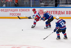 M. Petrov (86) attack Royalty Free Stock Image