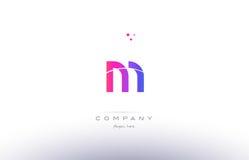 m pink modern creative alphabet letter logo icon template Royalty Free Stock Photos
