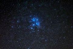 M45, Pleiades cluster or the seven sisters royalty free stock image