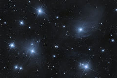 M45 Pleiades open cluster Stock Photos
