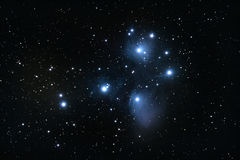 M45 Pleiades open cluster Stock Photo