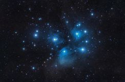 M45 The Pleiades Seven Sisters Open Cluster Stars And Space stock photos