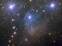 M45 Pleiades sju systrar Arkivfoto