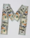 M. posteriore dalle banconote in dollari immagini stock