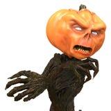 M. Pumpkin d'isolement sur le fond blanc illustration 3D illustration libre de droits