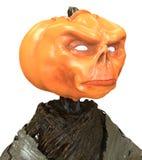 M. Pumpkin op witte achtergrond wordt geïsoleerd die 3D Illustratie royalty-vrije illustratie
