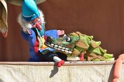 M. Punch en de Krokodil Stock Foto's